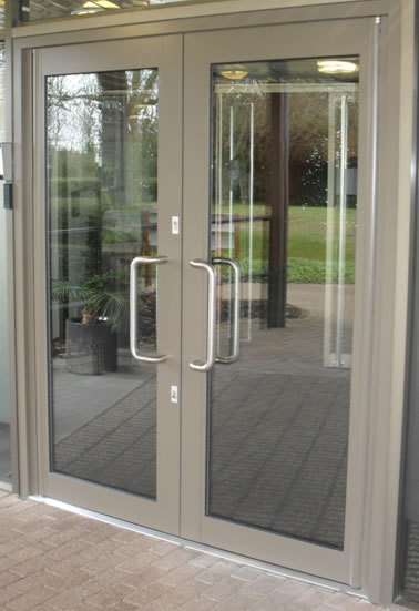 Aluminium doors commericlal caddy windows double glazing upvc windows bristol - Commercial double swing doors ...